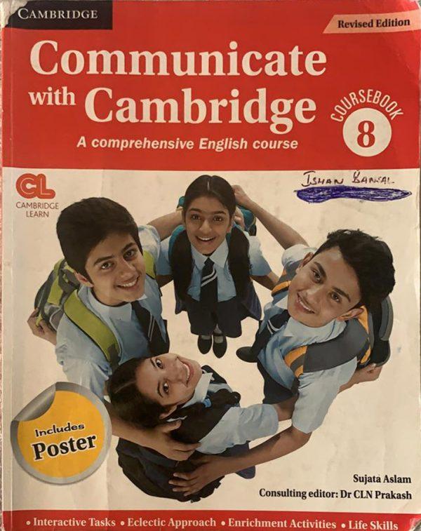 Communication with Cambridge class eight English grammar