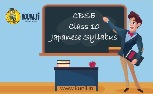 CBSE Class 10 Japanese syllabus