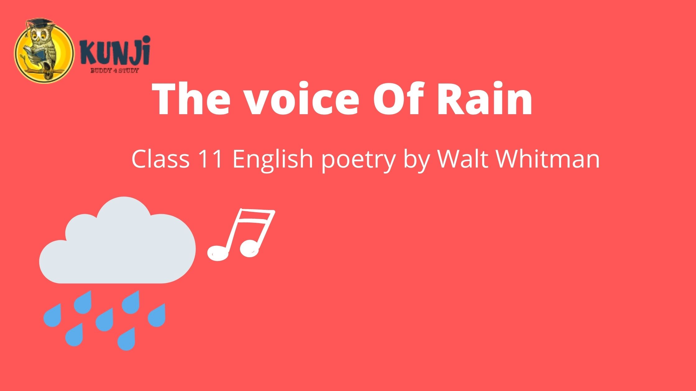NCERT Solutions for 11th ClassEnglish poetry Voice of the Rain