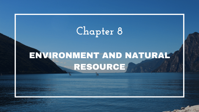 NCERT Solutions for Class 12 Political Science Chapter 8 Environment and Natural Resources