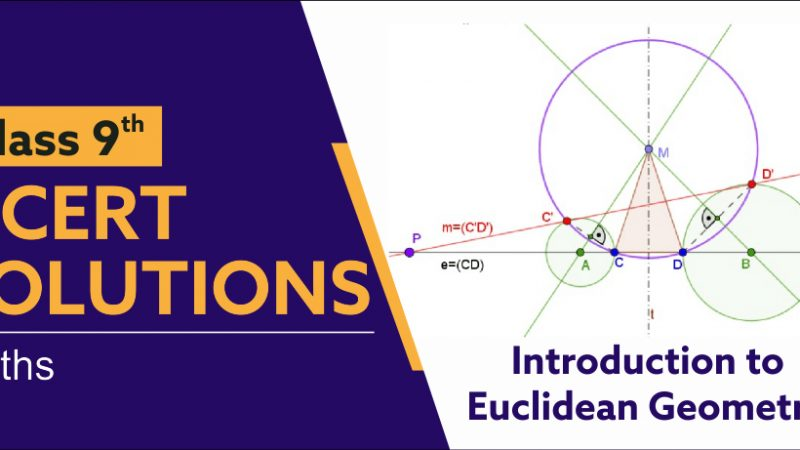 NCERT Solutions for Class 9 Maths Chapter 5 Introduction to Euclid Geometry